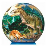 Ravensburger-12127 Puzzle Balle - Dinosaures