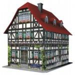 Ravensburger-12572 Puzzle 3D - Maison Médiévale