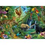 Puzzle  Ravensburger-12660 Animaux dans la jungle