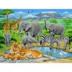Puzzle  Ravensburger-12736 Animaux d'Afrique