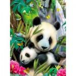 Puzzle  Ravensburger-13065 Panda câlin