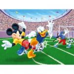 Puzzle  Ravensburger-13125 Mickey et ses amis : Match de football