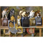Puzzle  Ravensburger-13562 Pièces XXL - Chats attendant le Courrier