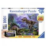 Puzzle  Ravensburger-13664 Dinosaures + Application