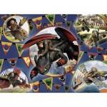 Puzzle  Ravensburger-13665 PIèces XXL - Lumineux la Nuit - Dragons