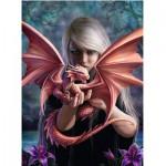 Puzzle  Ravensburger-14643 Anne Stokes: La Femme Dragon