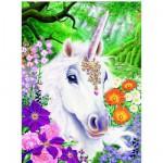 Ravensburger-14850 Licorne au pays des fleurs - Puzzle Brillant