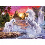 Ravensburger-14873 Puzzle Phosphorescent - Star Line : Belles licornes