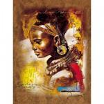 Puzzle  Ravensburger-15352 Jeune Africaine