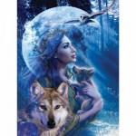 Puzzle  Ravensburger-15414 La femme-loup