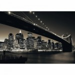 Puzzle  Ravensburger-15835 Manhattan avec Brooklyn Bridge