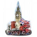 Ravensburger-16155 Puzzle Silhouette - Big Ben, Londres