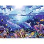Puzzle  Ravensburger-16331 Lassen: Jour des dauphins