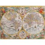 Puzzle  Ravensburger-16381 Carte du monde, 1594