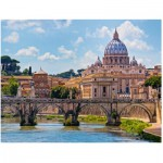 Puzzle  Ravensburger-16686 Pont Saint-Ange, Rome