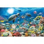 Puzzle  Ravensburger-17426 Vie dans le récif corallien