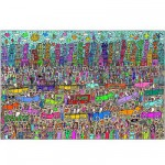 Puzzle  Ravensburger-17427 James Rizzi : Rien n'est aussi beau que la ville Rizzi