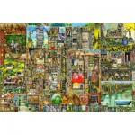 Puzzle  Ravensburger-17430 Colin Thompson : Ville Etrange