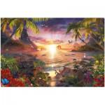 Puzzle  Ravensburger-17824 Coucher du soleil au paradis