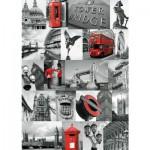 Puzzle  Ravensburger-19144 Collage Londonnien