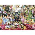 Puzzle  Ravensburger-19553 Disney - Tous à Bord pour Noël