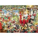 Puzzle  Ravensburger-19562 Derniers Préparatifs avant Noël