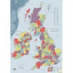 Puzzle  Ravensburger-19565 Carte du Royaume Uni et de l'Irlande
