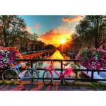 Vélos à Amsterdam 1000 pièces - Ravensburger