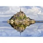 Puzzle  Ravensburger-19647 Le Mont-Saint-Michel