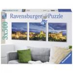 Ravensburger-19918 3 Puzzles - L'Alhambra au Crépuscule