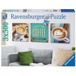 Ravensburger-19919 3 Puzzles - Le Plaisir du Café