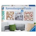 Ravensburger-19920 3 Puzzles - Expressions Maritimes