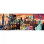 Puzzle  Ravensburger-19995 Triptyque : New York en lumière