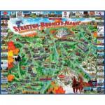 Puzzle  White-Mountain-1020 Manchester et les montagnes