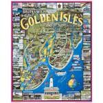 Puzzle  White-Mountain-128 Brunswick et les îles dorées, Georgie, USA