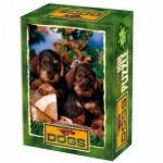 DToys-50199-DG07 Mini Puzzle - Animaux domestiques - Deux chiots coupent du bois
