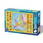 Puzzle  Dtoys-50663-MP-02 Carte de l'Europe avec les drapeaux