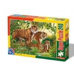 Puzzle  Dtoys-60211-AN-04 Animaux sauvages : Famille de tigres