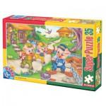 Puzzle  Dtoys-60389-PV-04 Pièces XXL : Les 3 petits cochons