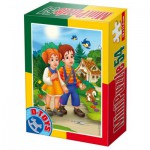 Dtoys-60471-PV-03 Mini Puzzle : Hansel et Gretel