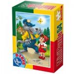 Dtoys-60471-PV-04 Mini Puzzle : Le Petit Chaperon Rouge