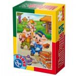 Dtoys-60471-PV-06 Mini Puzzle : Les 3 petits cochons