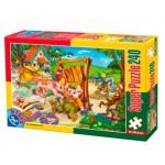 Puzzle  Dtoys-60488-PV-05 Pièces XXL : Les 3 petits cochons