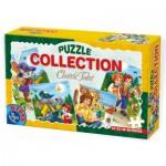 Dtoys-60501-CP-01 4 Puzzles - Contes et Légendes : Hansel et Gretel, Le Petit Chaperon Rouge, Le Chat Botté, Gulliver