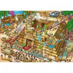 Puzzle  DToys-61218-CC03 Cartoon Collection - Pyramide d'Egypte