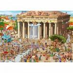 Puzzle  DToys-61218-CC04 Cartoon Collection - Acropole