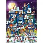 Puzzle  DToys-61218-CC07 Cartoon Collection - Pagaille de Noël
