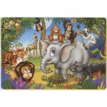 Puzzle  Dtoys-61454-AN-03 Color Me : La fête des animaux de la jungle
