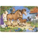 Puzzle  Dtoys-61492-AN-03 Famille de chevaux