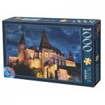 Puzzle  Dtoys-63038-MN13 Château de Hunedoara by Night, Château des Corvin by Night - Roumanie